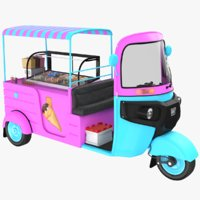 Ice Cream TukTuk Cart