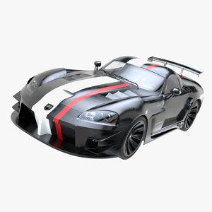 3D dodge viper car