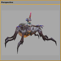 3D monster - spider maid model
