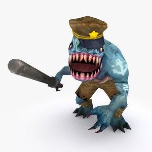 3D rigged creature type c