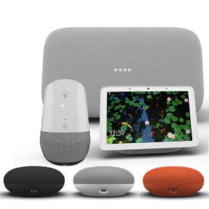google smart speaker 2018 3D