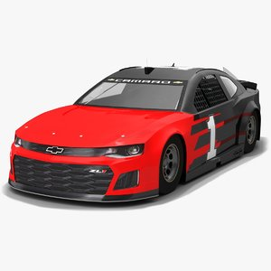 3D nascar race car chip