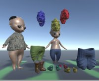 3D humanoid boy unity