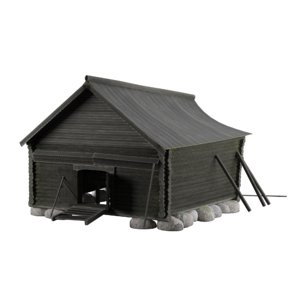3D model old cattle shed