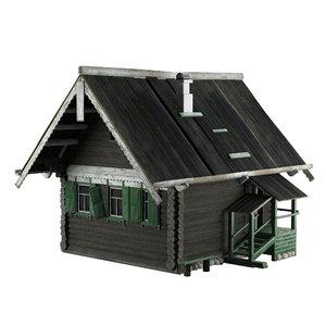 3D old house model