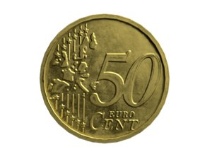 50 cents coin 3D model