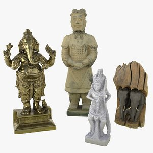 discounted ganesha statue 3D model