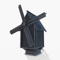 russian wooden 3D