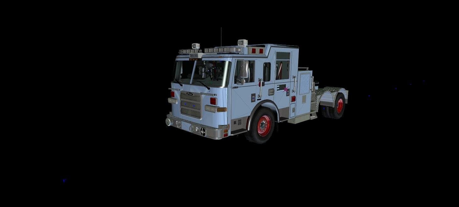3D Seattle Based Pierce Arrow TIller Ladder (GTA-V)