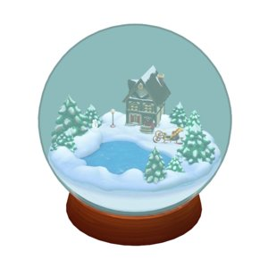 3D snow globe midpoly ar model