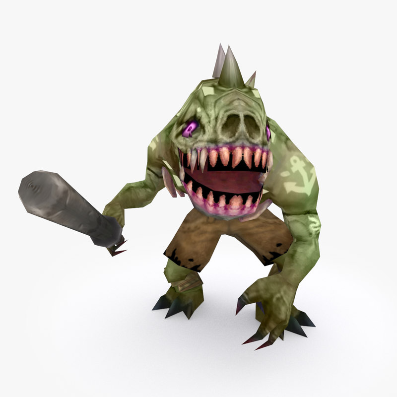 rigged creature type g 3D model