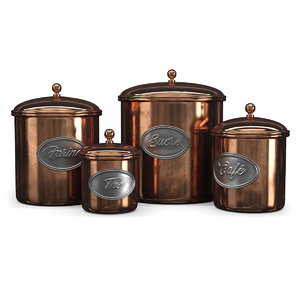 3D vintage jars copper