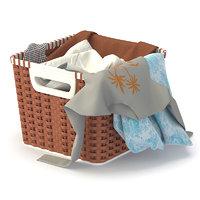 cloth basket 3D model