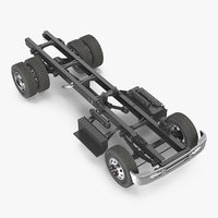 3D truck chassis 2 model
