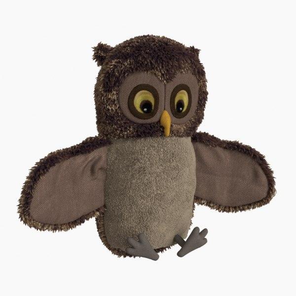 3D owl toy