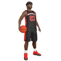 rigged basketball player ball 3D model