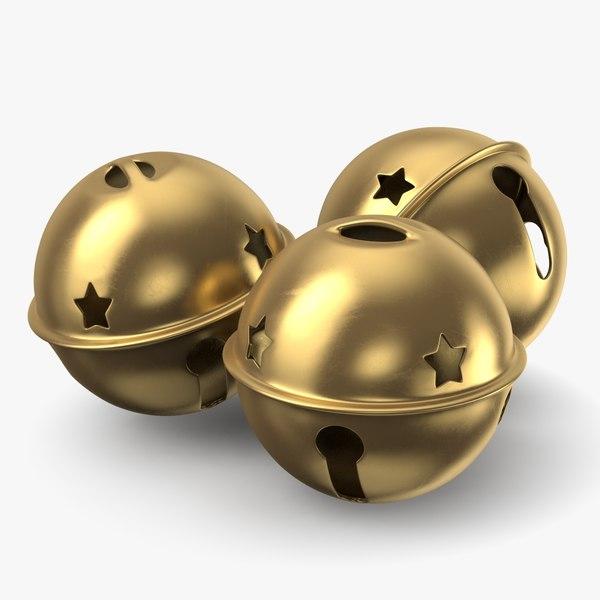 jingle bell gold 3D