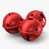 3D jingle bell red