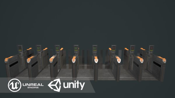 3D model automated ticket barriers