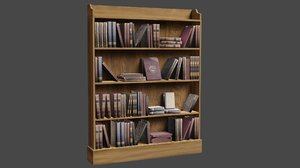 book bookcase case 3D model