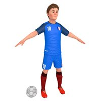 3D cartoon soccer player