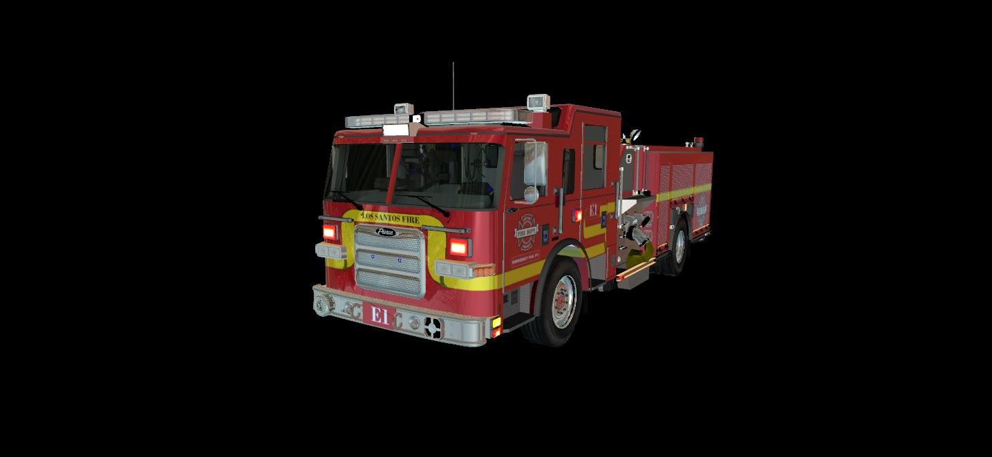 pierce seattle engine 3D
