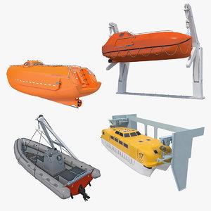 3D model lifeboats boat life