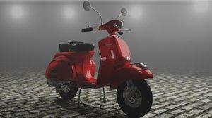 3D red vespa model