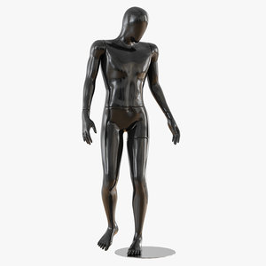 3D abstract male mannequin
