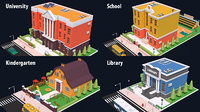 buildings university school 3D model