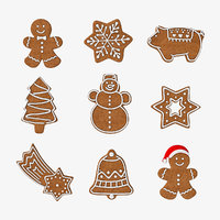 gingerbread cookie set 3D model