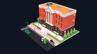 Low Poly Educational Buildings