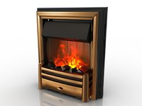 3D fireplace hearth model