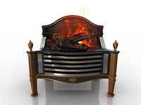 fireplace hearth 3D model