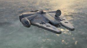 3D millenium falcon spacecraft model