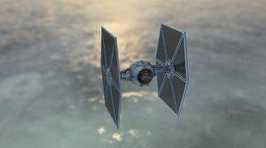 fighter spacecraft 3D model