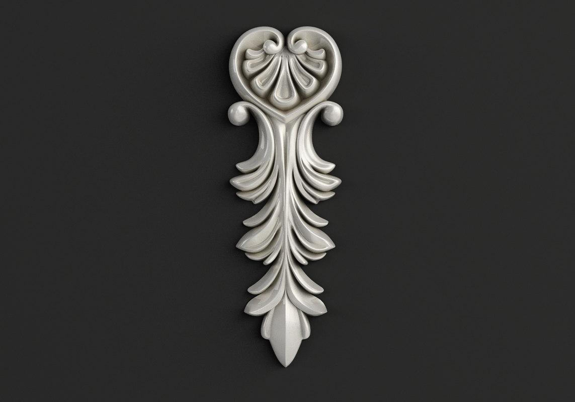 carved cnc stl model