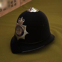 3D custodian helmet police