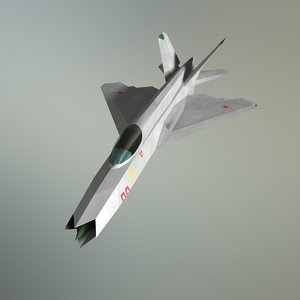 3D concept fighter mig-21z-f stealth aircraft model