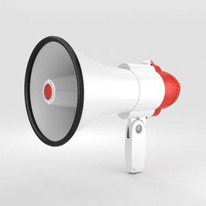 megaphone phone 3D