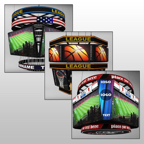 pack jumbotron sport scoreboards 3D model