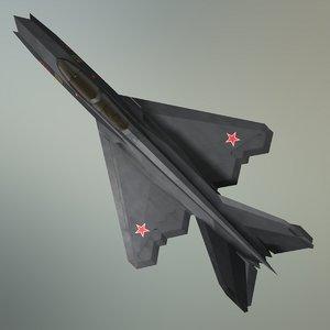 3D concept fighter mig-21z-m stealth
