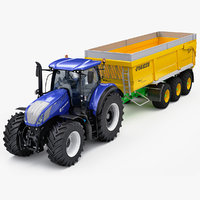 New Holland T7 with Joskin Trans-Space 8000