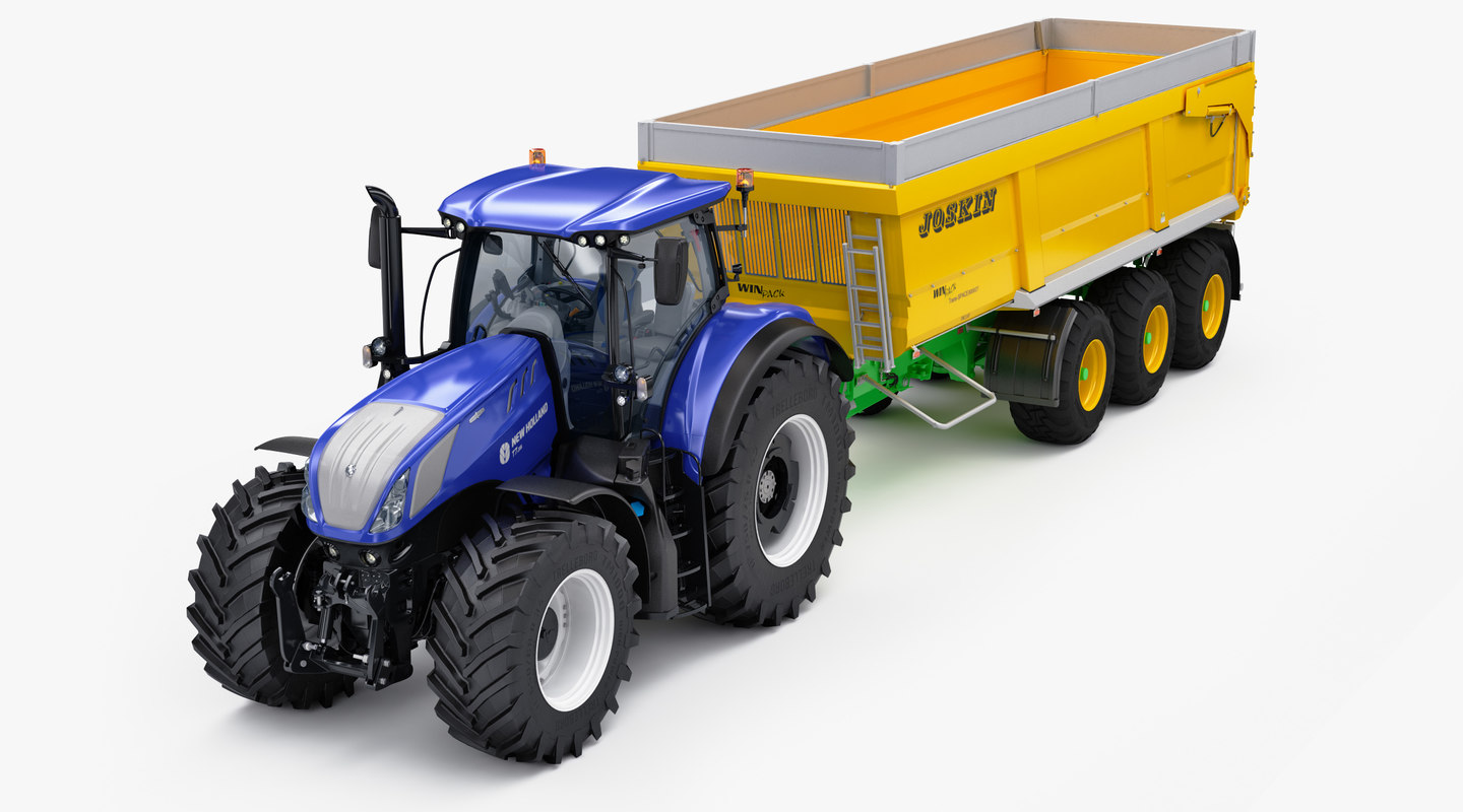 3D agricultural tractor new holland