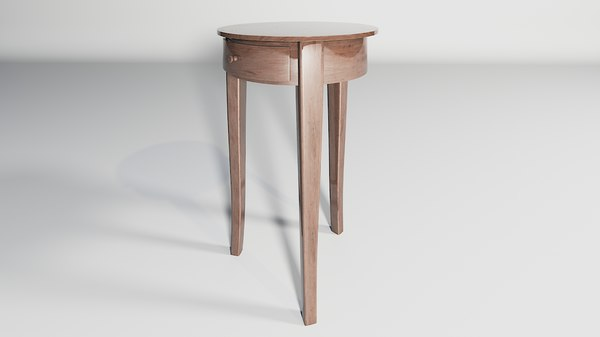 3D table rounded 1 model