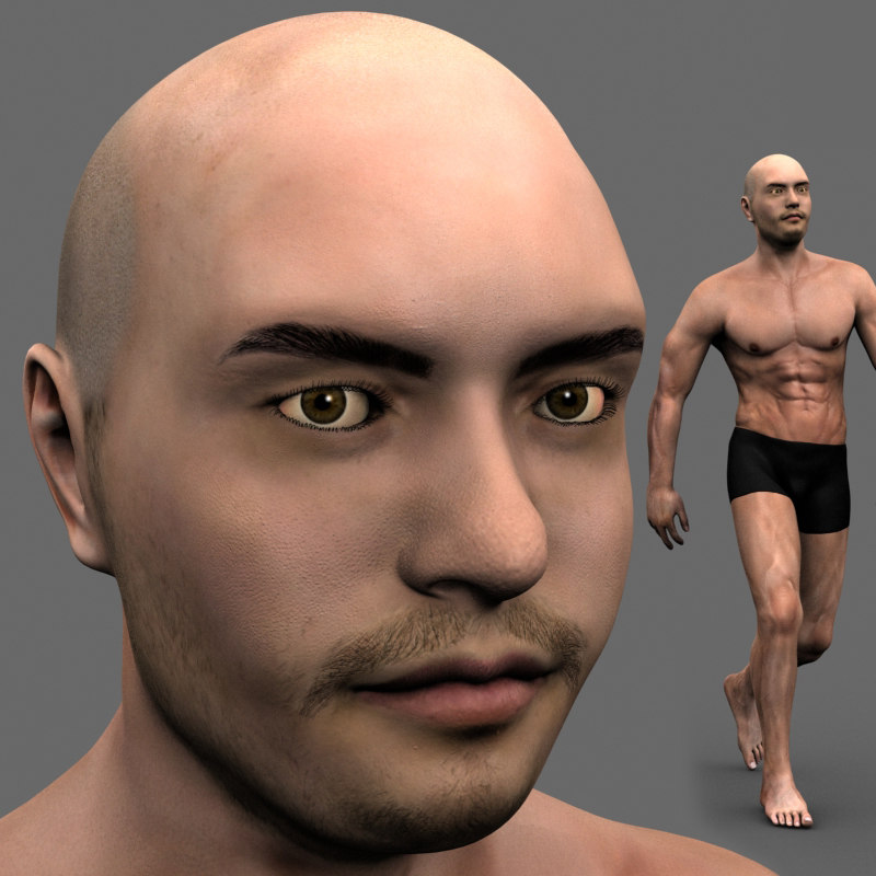 3D nunamoto - man character model