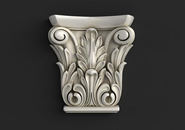carved cnc stl 3D model