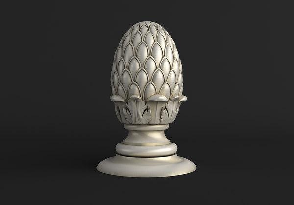 3D corbel pinecone