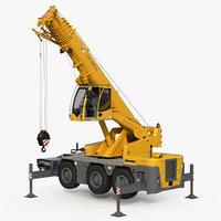 liebherr crane ltc rigged 3D model