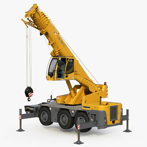 liebherr crane ltc rigged 3D model